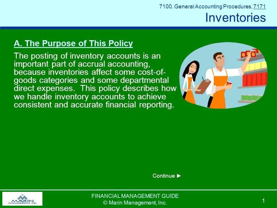 FINANCIAL MANAGEMENT GUIDE © Marin Management, Inc.