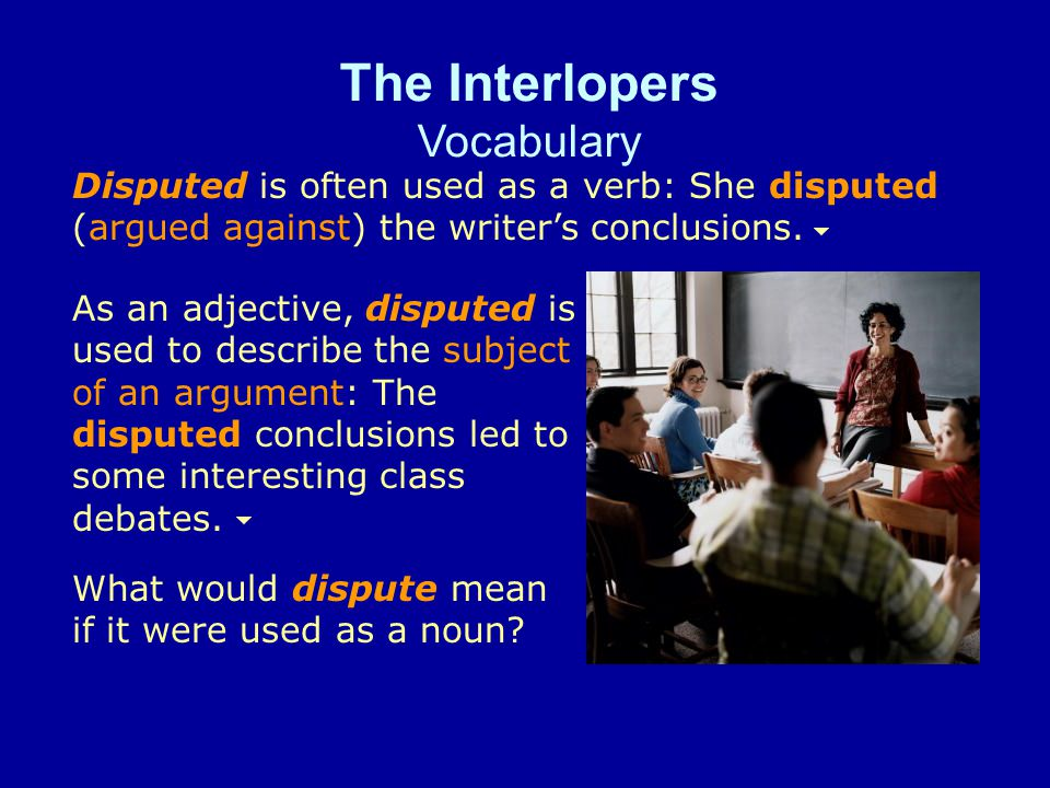 The Interlopers Vocabulary Please remind me to send a card to Aunt Susie to express my condolences.