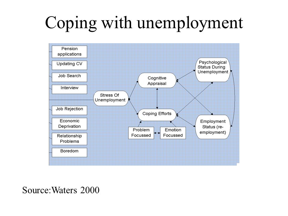 Coping with unemployment Source:Waters 2000