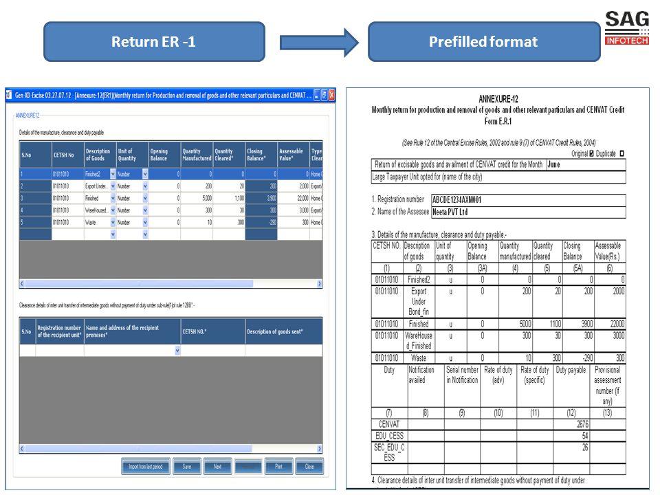 Prefilled formatReturn ER -1