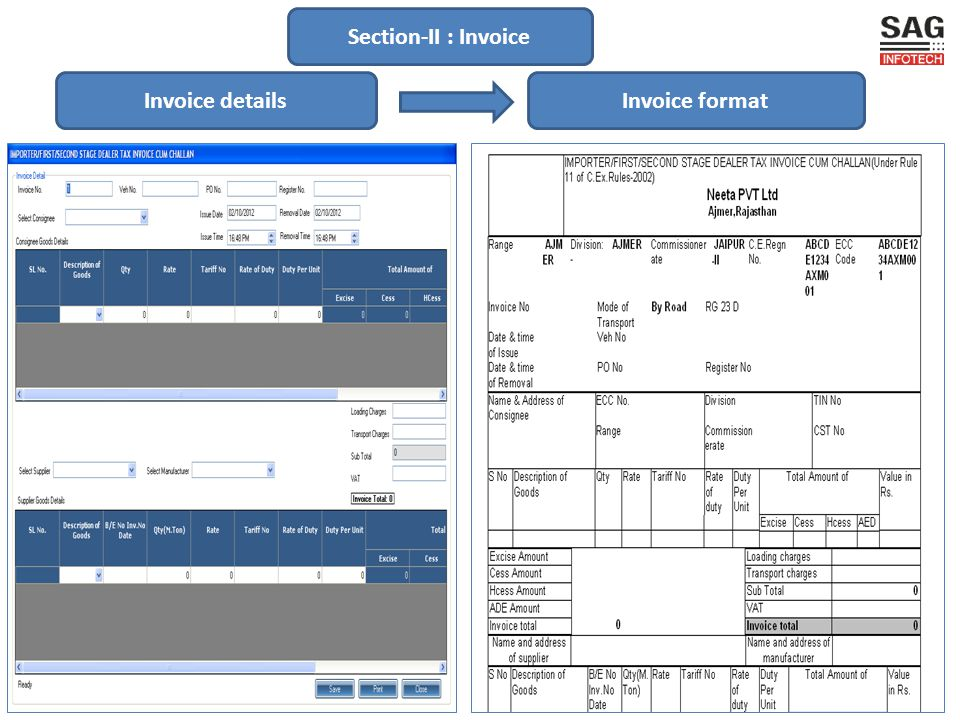 Section-III : Forms Prefilled formatClick on desired form/return