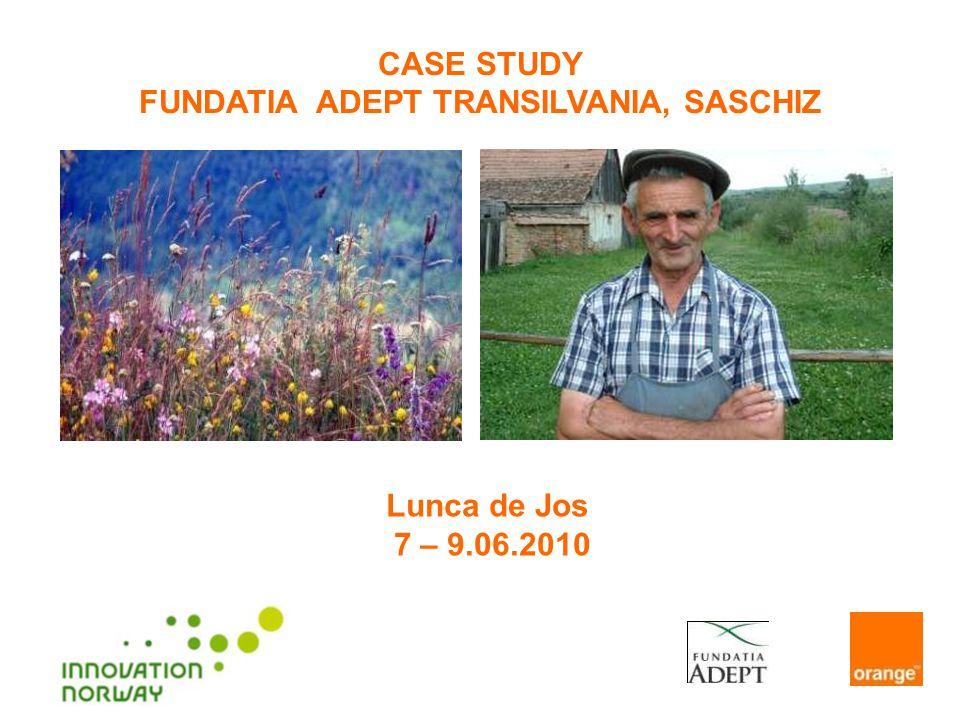 CASE STUDY FUNDATIA ADEPT TRANSILVANIA, SASCHIZ Lunca de Jos 7 – 9.06.2010