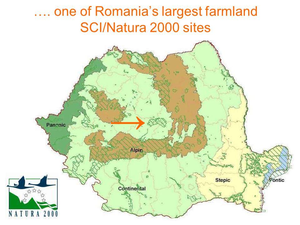 …. one of Romanias largest farmland SCI/Natura 2000 sites