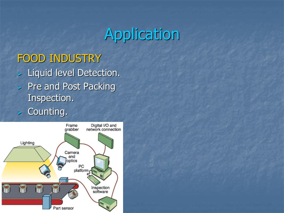 Application FOOD INDUSTRY Liquid level Detection. Liquid level Detection.