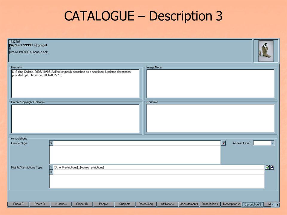 CATALOGUE – Description 3