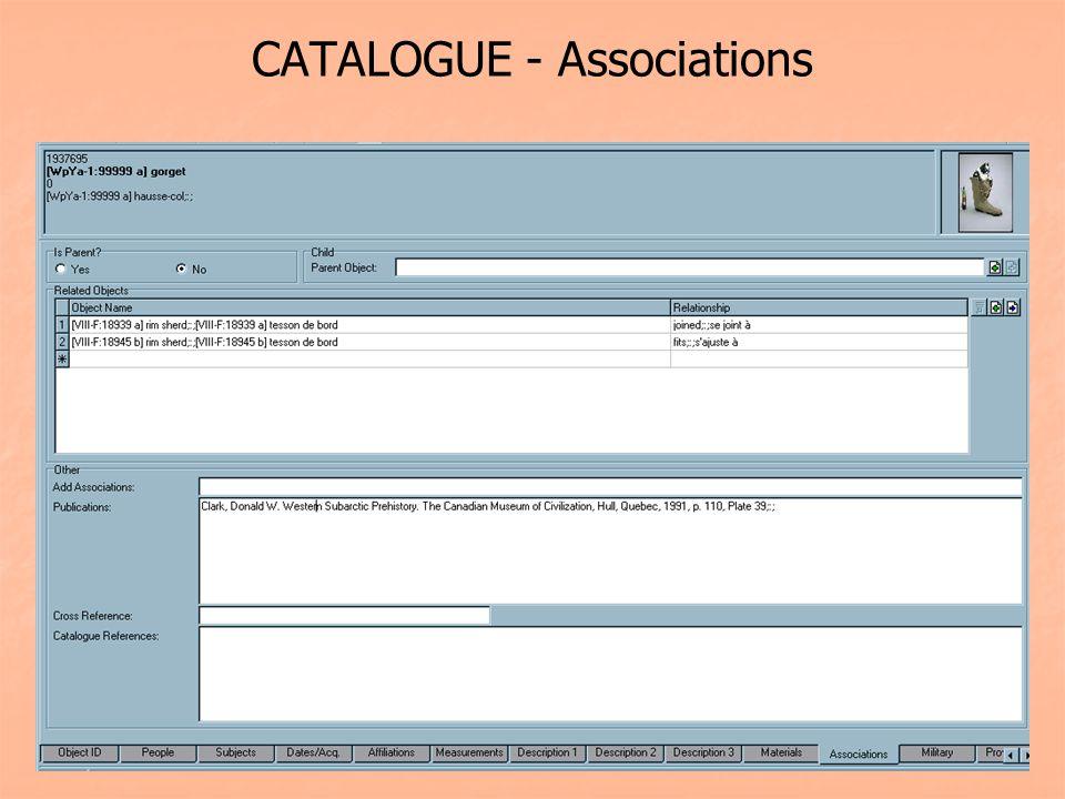 CATALOGUE - Associations