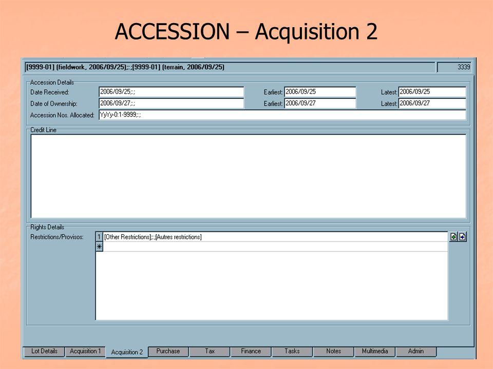 ACCESSION – Acquisition 2