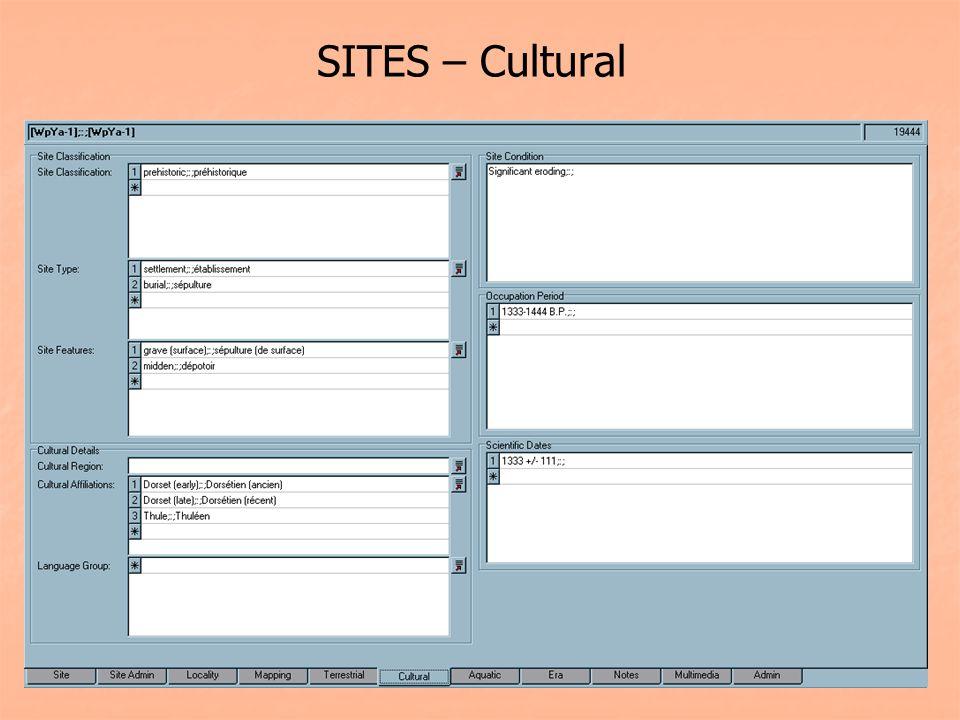 SITES – Cultural