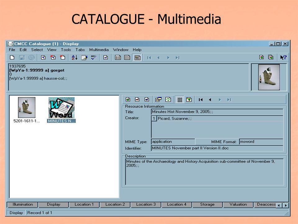 CATALOGUE - Multimedia