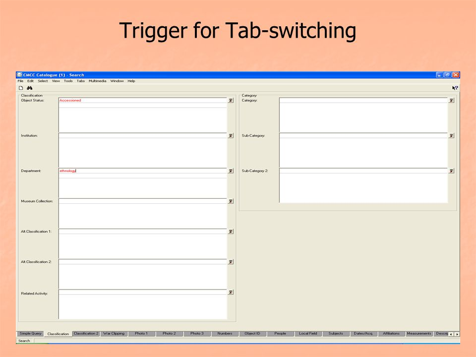Trigger for Tab-switching