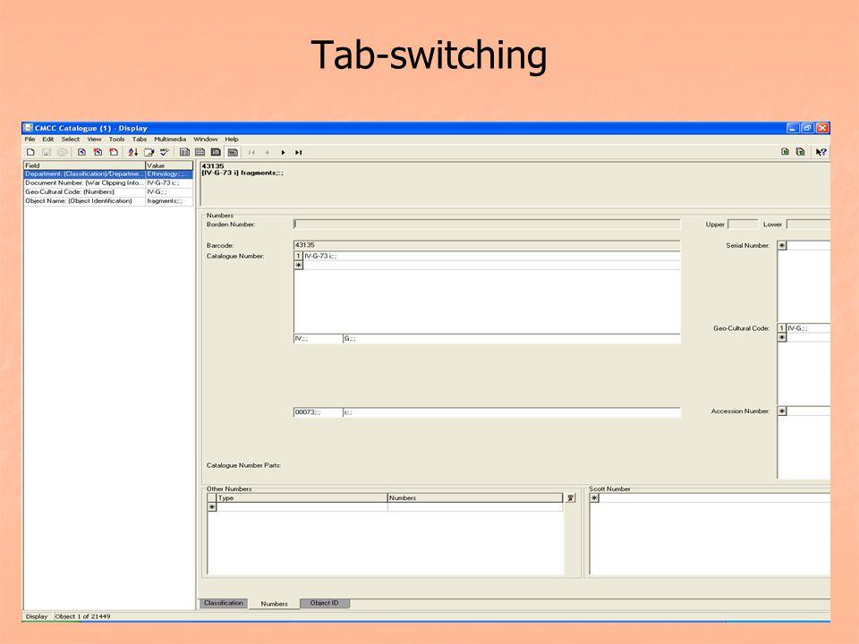 Tab-switching