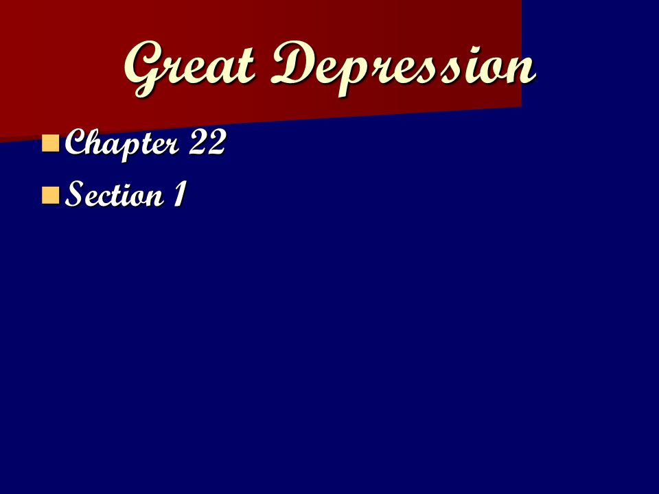 Brainstorming: What is a depression.What is a depression.