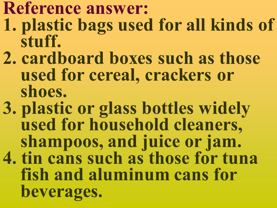 Discussion 1: When you think of packaging garbage, what comes to your mind?