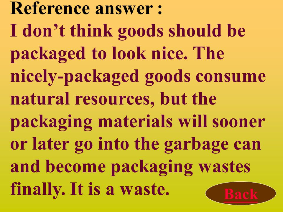 Discussion 3: Should goods be packaged in order to look nice? Why, or why not?