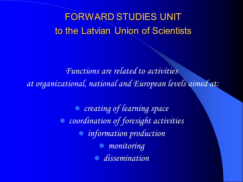 Ioannina Conference Manifesto for Foresight Cooperation in an Enlarged European Research and Innovation Area Foresight refers to the basis and its success depends on the basis .