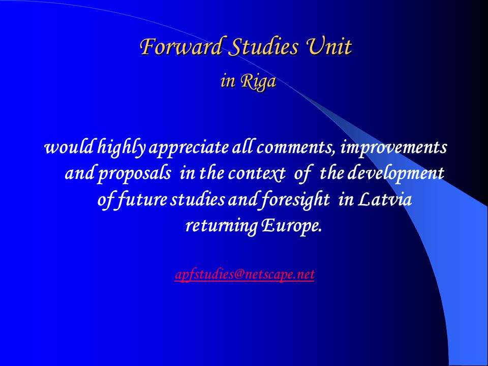 STRENGTHENING THE DIMENSION OF FORESIGHT IN THE EUROPEAN RESEARCH AREA, An outline GuideAn outline Guide to opportunities offered by the 6th European Community Research Framework Programme for supporting co-operation in the field of foresight in Europe, EC, DG Research, Unit RTD-K.2.