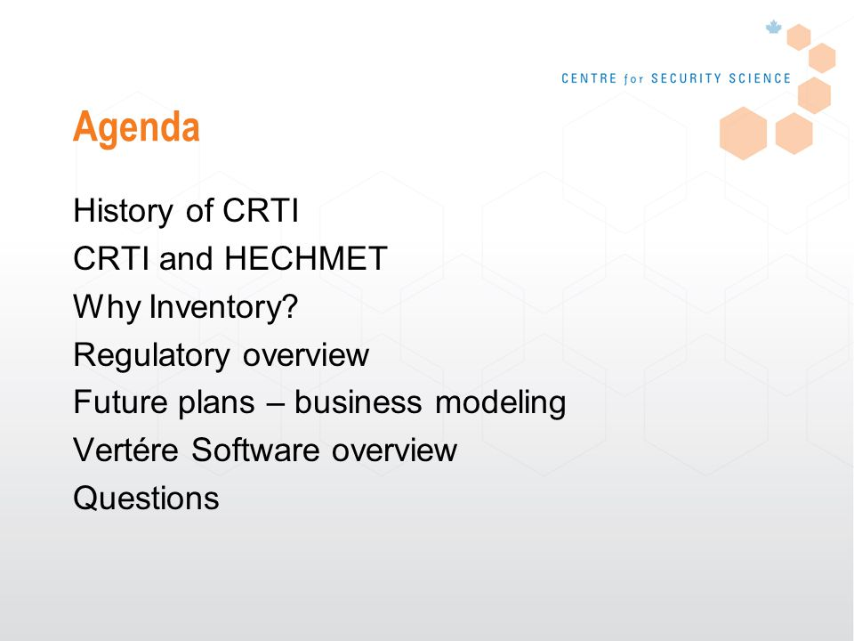 History of CRTI (CBRNE Research & Technology Initiative) December 2001 budget Laboratory Clusters >Chemical >Biological >Radiological/Nuclear >Forensics (2005) >Explosives (2006) >Psychosocial (2007/08)