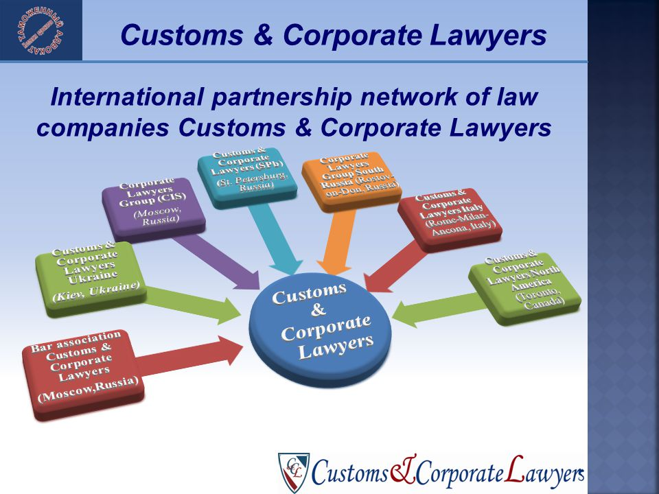 23 International partnership network of law companies Customs & Corporate Lawyers Customs & Corporate Lawyers