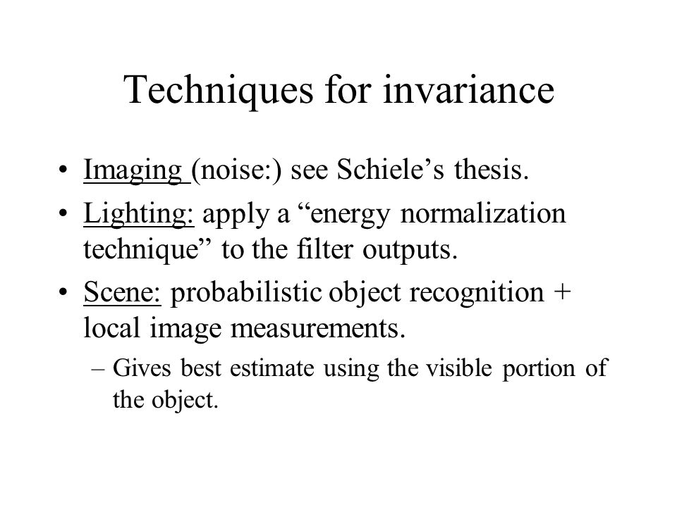 Techniques for invariance Imaging (noise:) see Schieles thesis.
