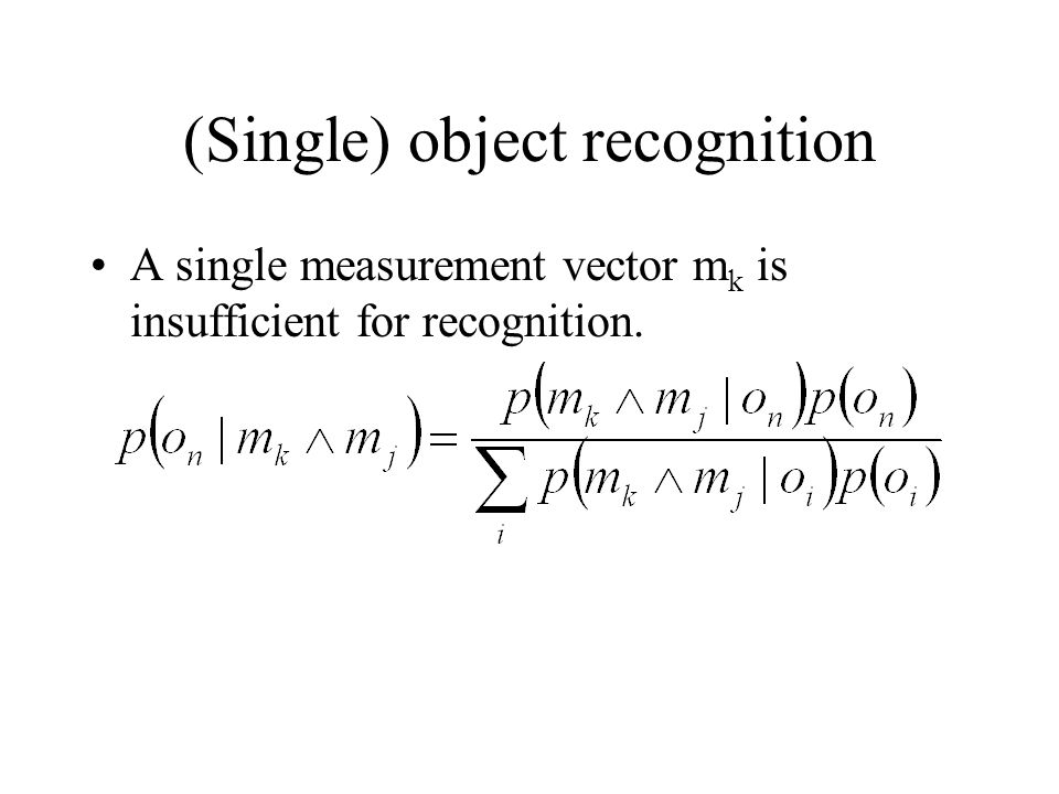 A single measurement vector m k is insufficient for recognition.