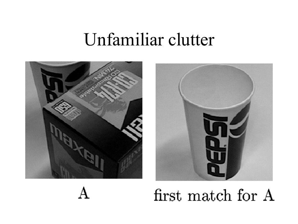 Unfamiliar clutter