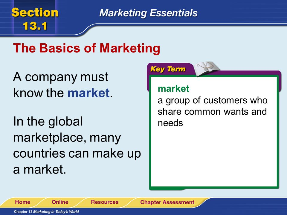 The Basics of Marketing Marketing includes studying what people want and designing a products packaging.