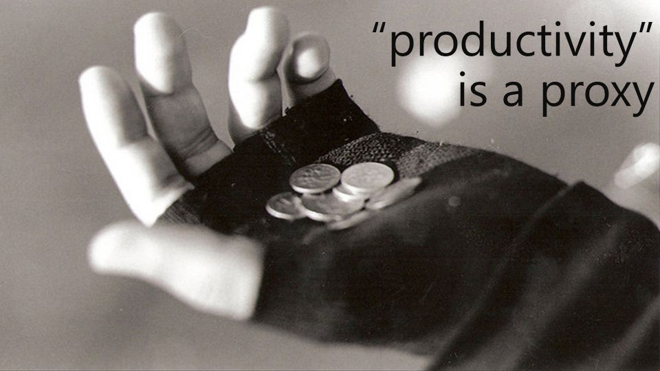 productivity is a proxy