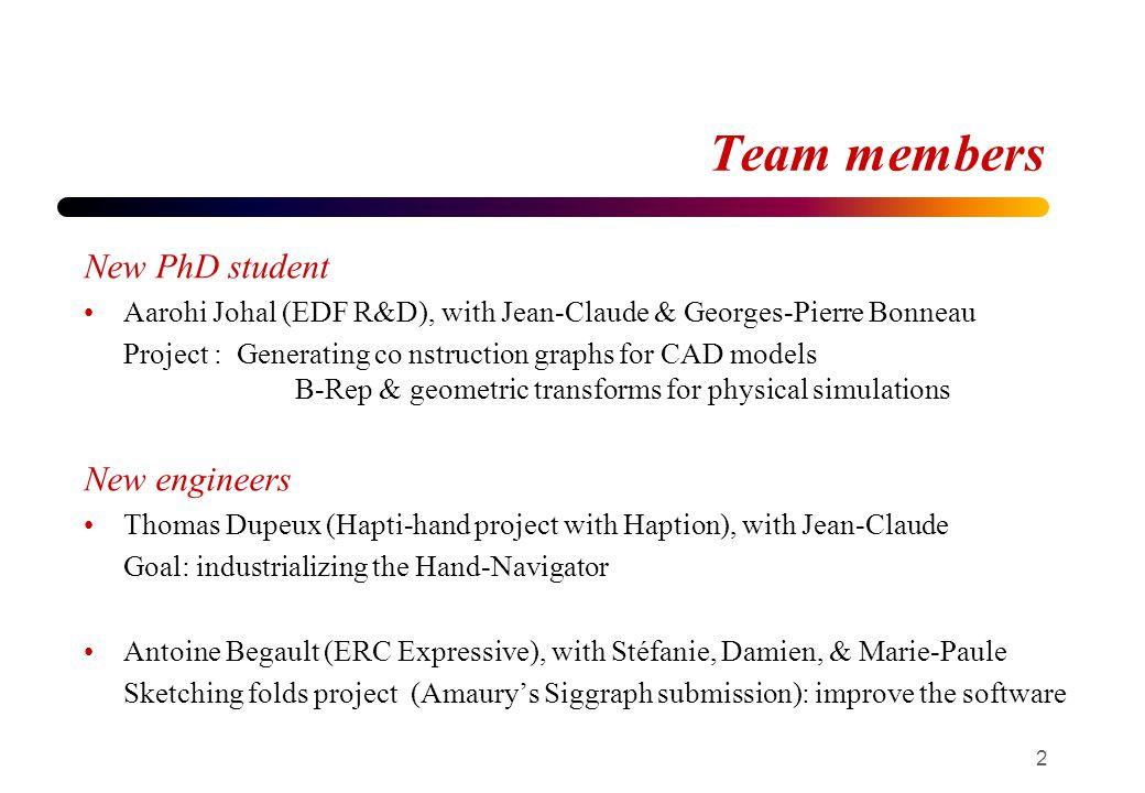 Team members Antoine Begault 2008- INRIA Grenoble @Evasion - Travaux sur ProLand avec Eric Bruneton 2010 - Pimaia, Grenoble : Logiciel darchitecture grand public 3