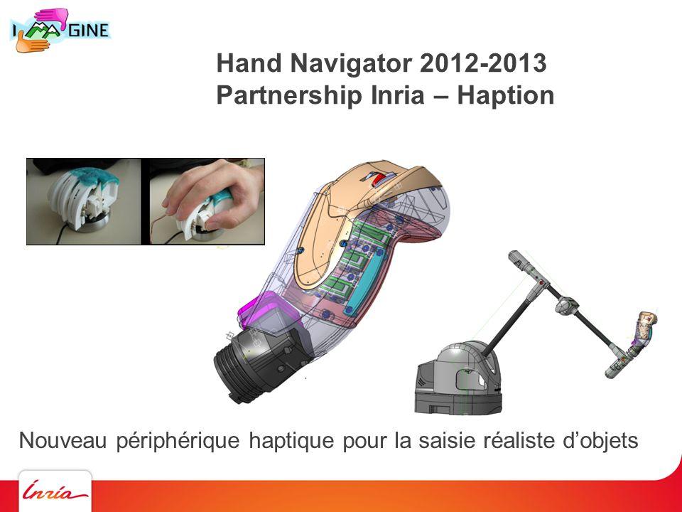 Hand Navigator 2012-2013 Partnership Inria – Haption Nouveau périphérique haptique pour la saisie réaliste dobjets
