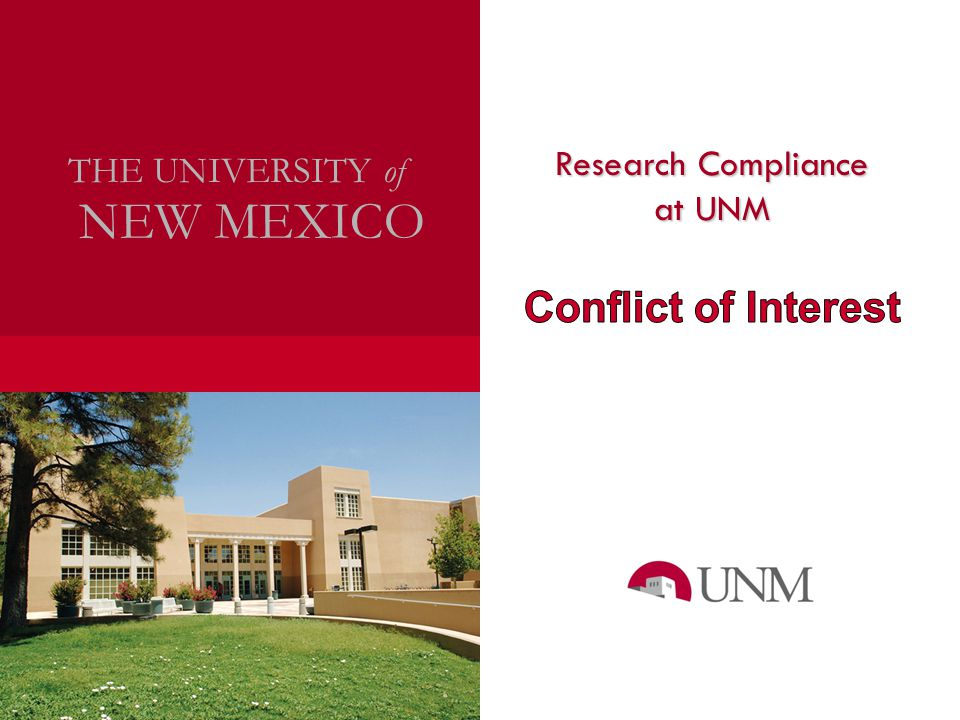 Research Compliance NEW MEXICO THE UNIVERSITY of