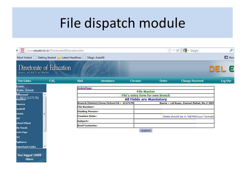 File dispatch module