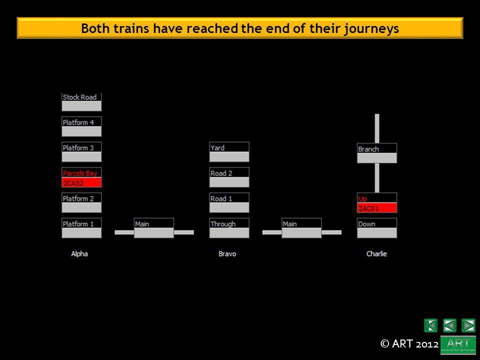 © ART 2012 Both trains have reached the end of their journeys