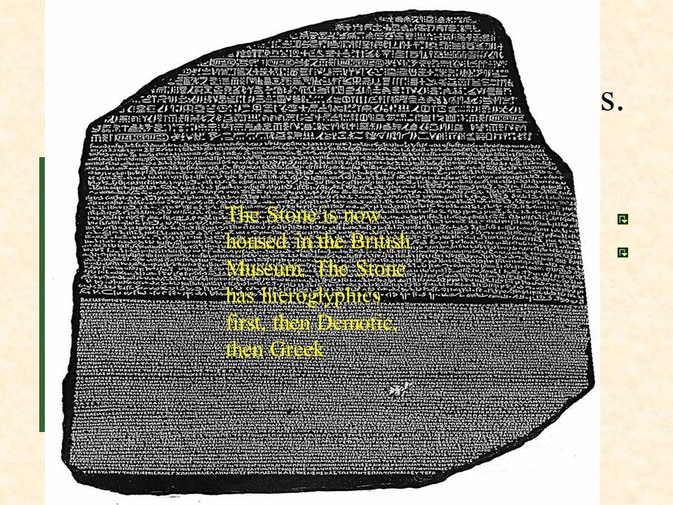 Main Idea 1: Egyptian writing used hieroglyphics. Hieroglyphics was the Egyptian writing system. Egyptians learned to write hieroglyphics on papyrus,