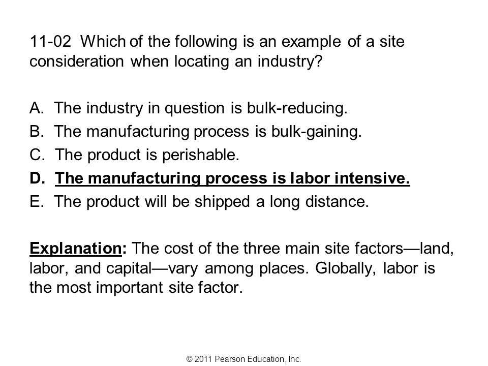 © 2011 Pearson Education, Inc.11-03 Industrialization in the United States began in: A.