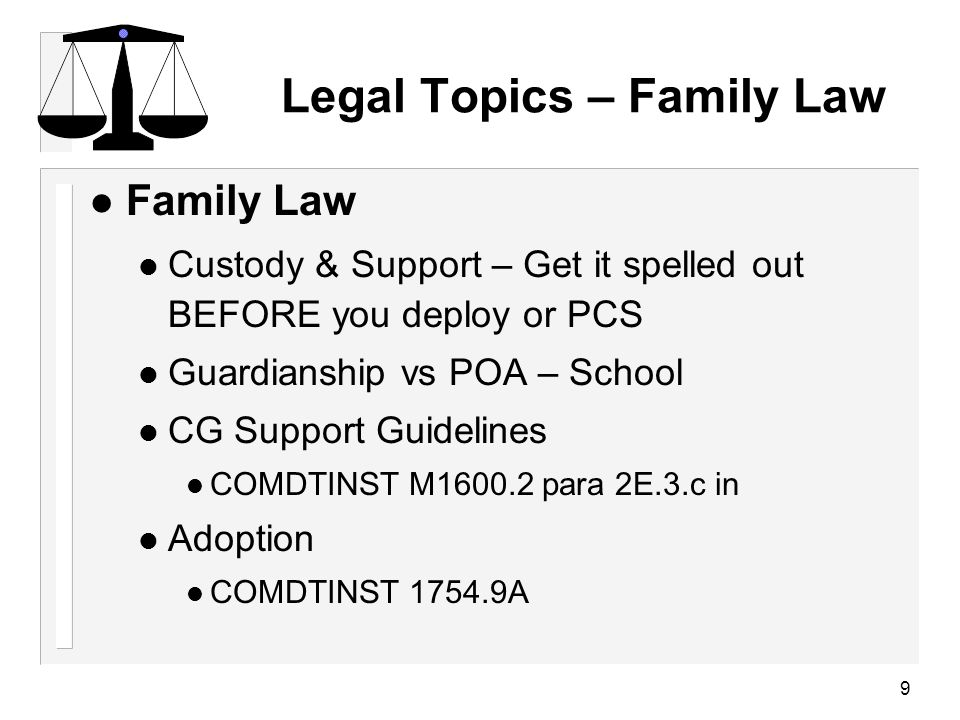 10 Powers of Attorney (PoA) l POA – designate agent to act on behalf of principal POA – designate agent to act on behalf of principal l Agent has same legal authority as principal for those acts Agent has same legal authority as principal for those acts l Others may refuse to honor a POA or insist on revisions Others may refuse to honor a POA or insist on revisions So … check ahead of time.