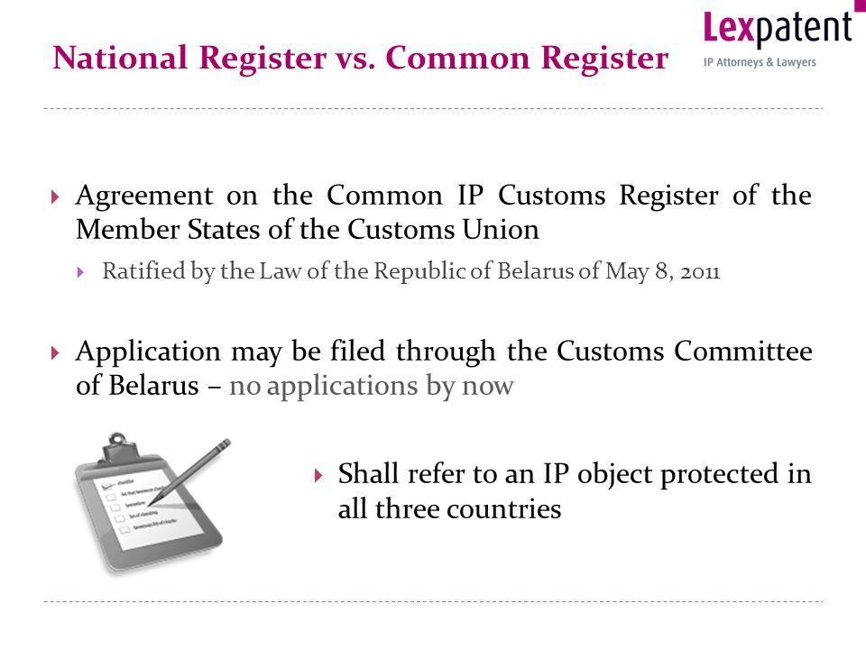 National Register vs.