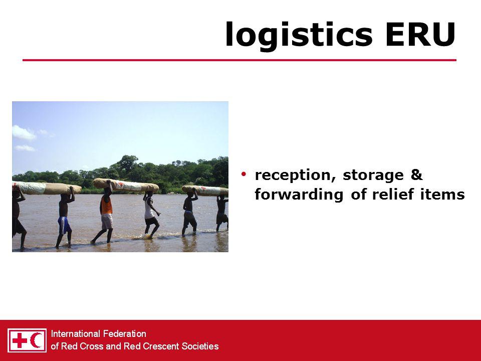 distribution of emergency supplies (plastic sheets, blankets, hygiene kits, kitchen sets, …) relief ERU