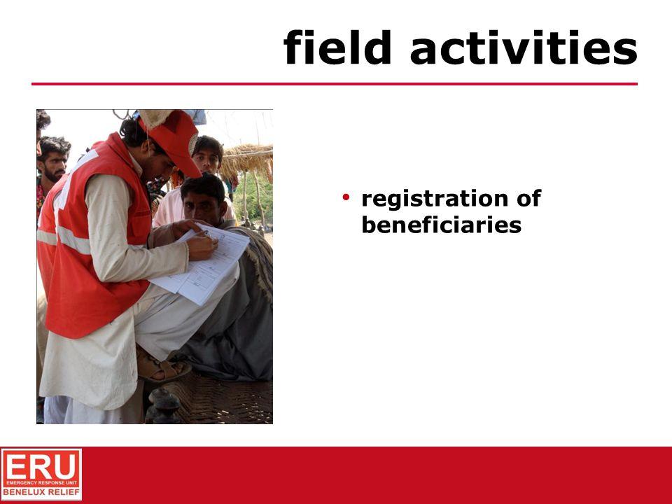 assessment of needs & beneficiaries field activities