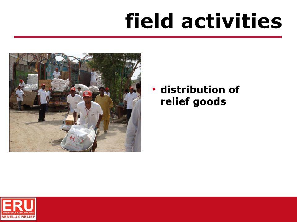 registration of beneficiaries field activities