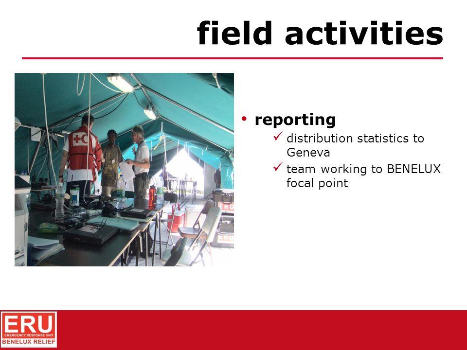 distribution of relief goods field activities