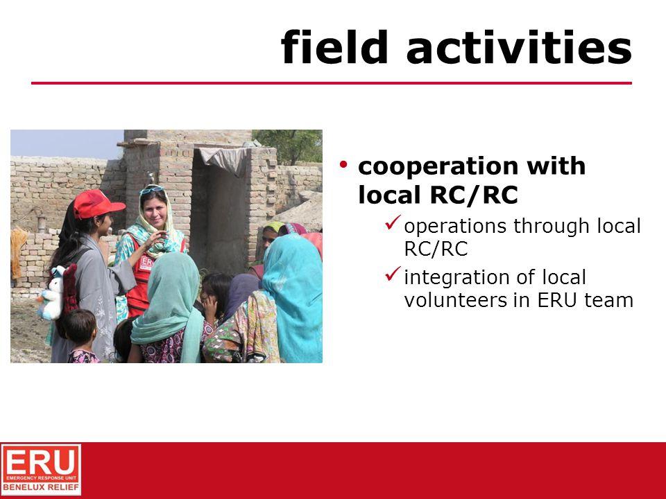 coordination with other ERUs humanitarian organisations field activities