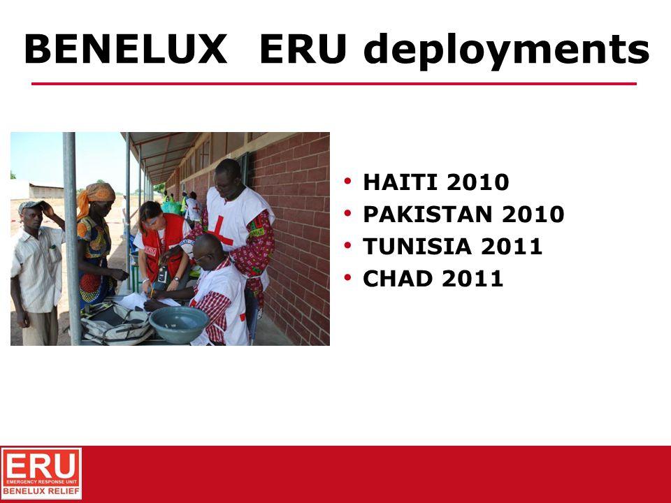 MOZAMBIQUE 2007 MADAGASCAR 2007 PERU 2007 HAITI 2008 BURKINA FASO 2009 BENELUX ERU deployments
