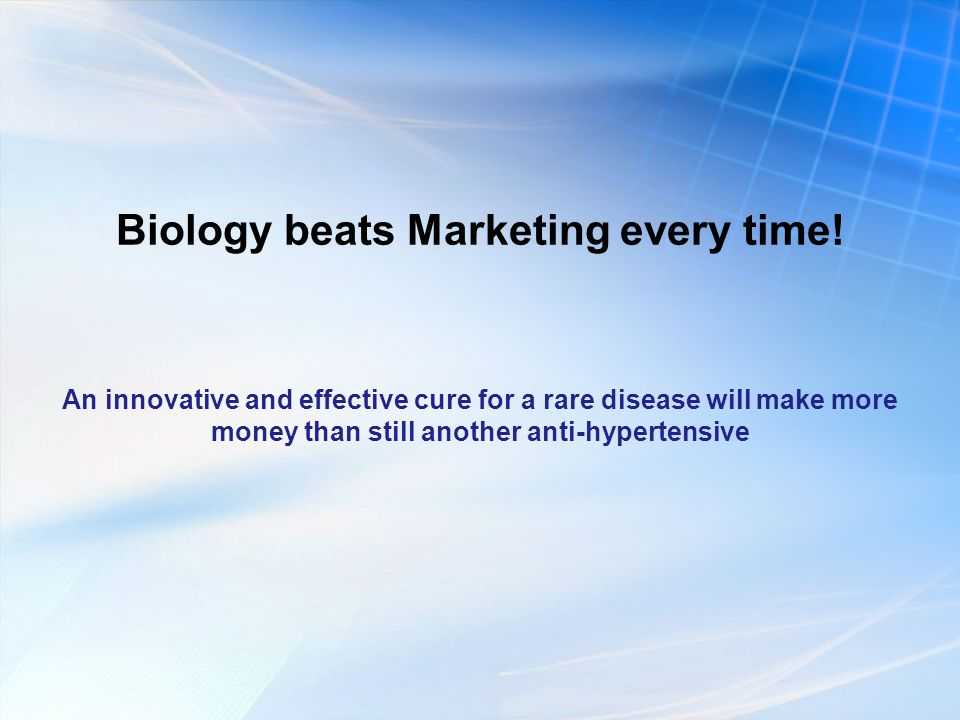 Biology beats Marketing every time.