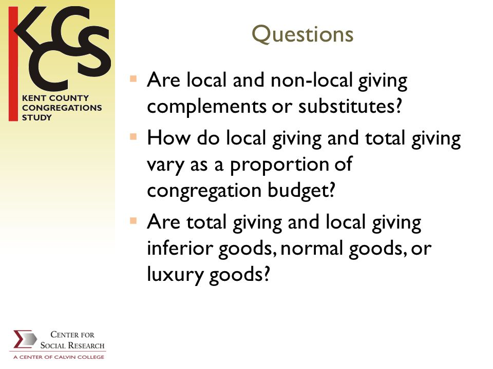 Questions Are local and non-local giving complements or substitutes.