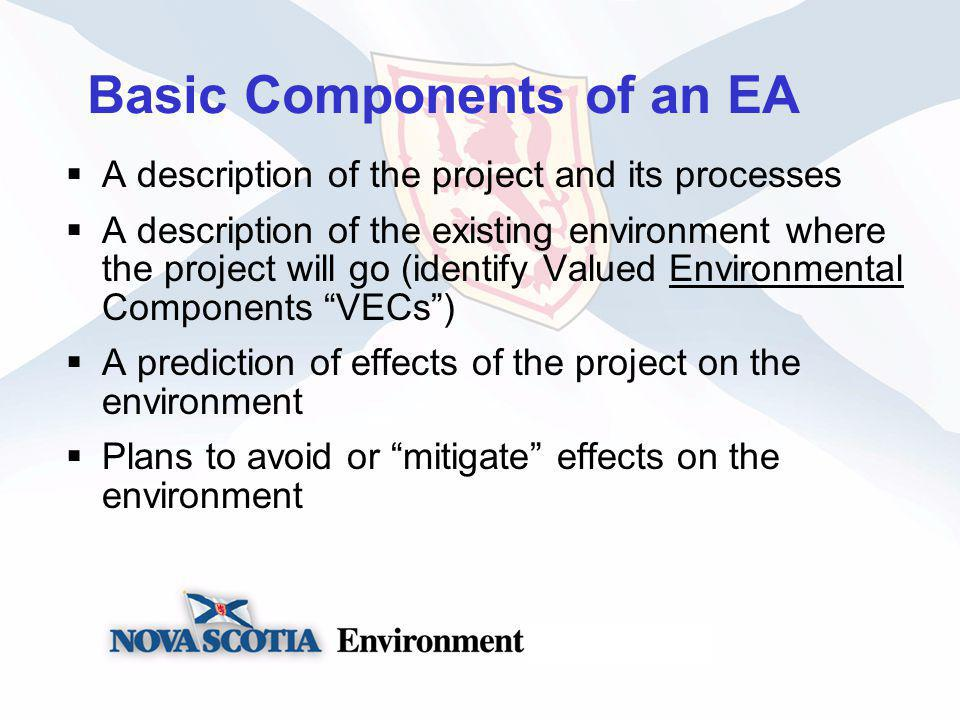 What gets considered in an EA.VECs such as…….
