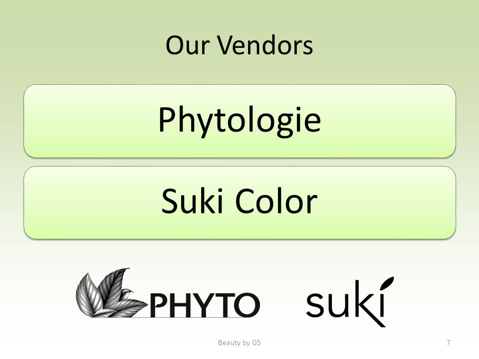 Our Vendors PhytologieSuki Color Beauty by G57