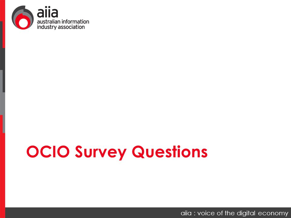 OCIO Survey Questions