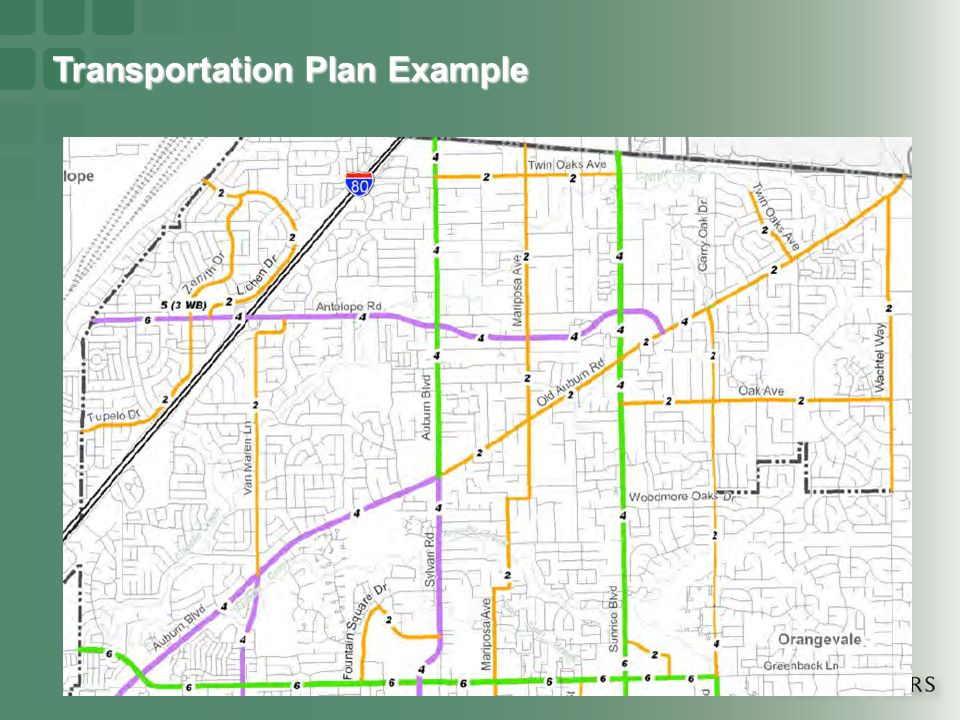 Transportation Plan Example