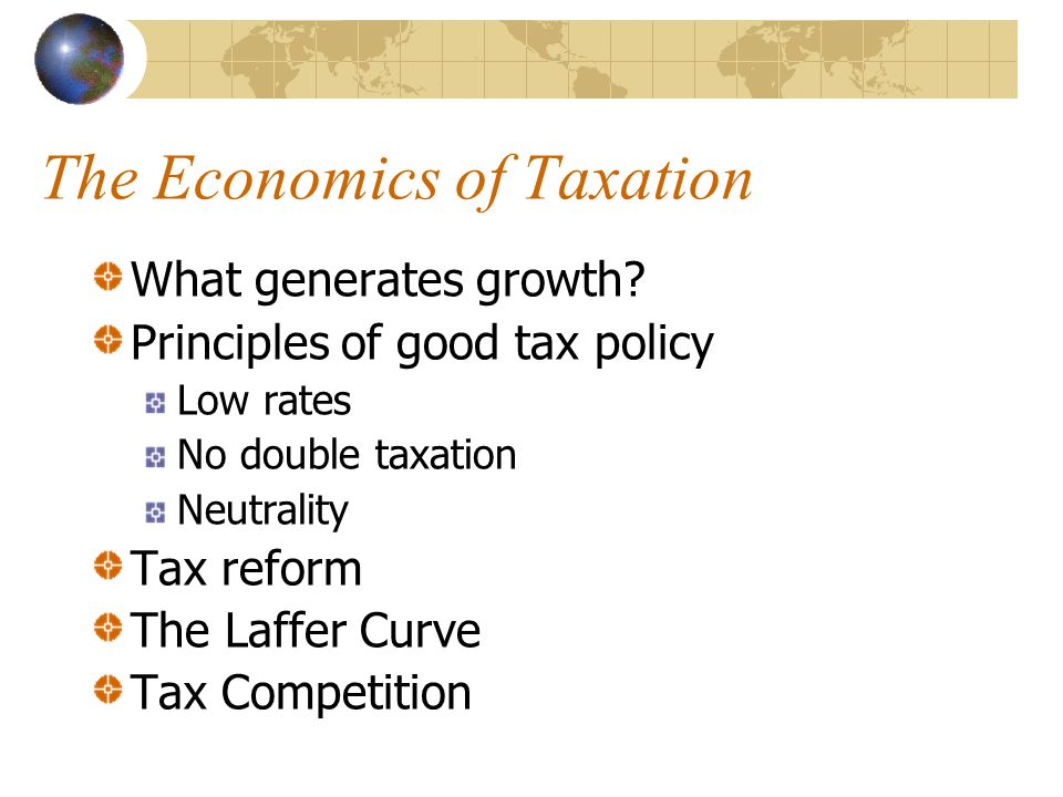 Conclusion High tax rates are bad for growth.