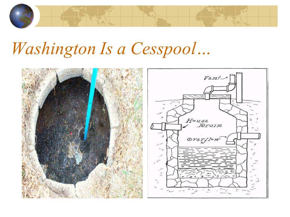 Washington Is a Cesspool…
